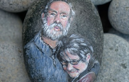 Portret op steen / Portrait on stone